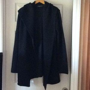Vince Black Ladies Sweater Coat in Size L